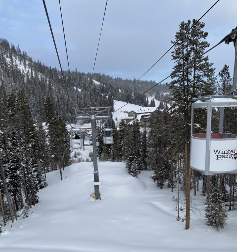 View from Cabriolet lift at Winter Park on January 2, 2020