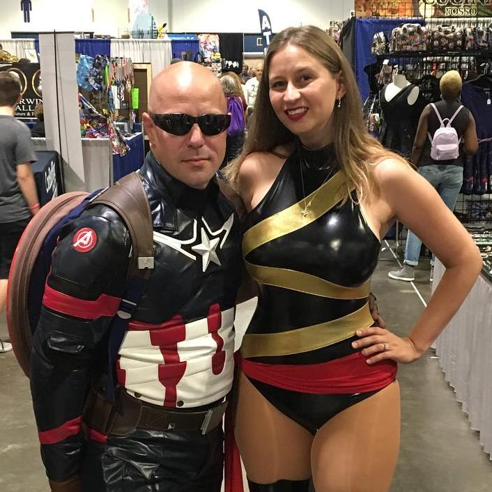 Captain America and Ms Marvel Cosplay