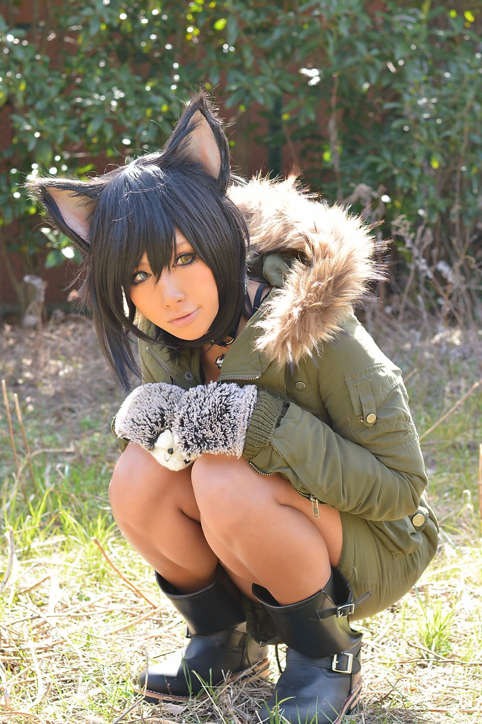 Nonsummerjack in coat and cat ears