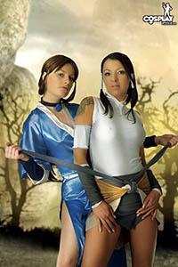 Korra and Katara