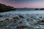 Waves trickling through polished pebbles before Egg Rock.  Nahant, MA, 2012.