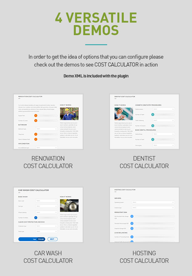 Cost Calculator - WordPress Plugin 5