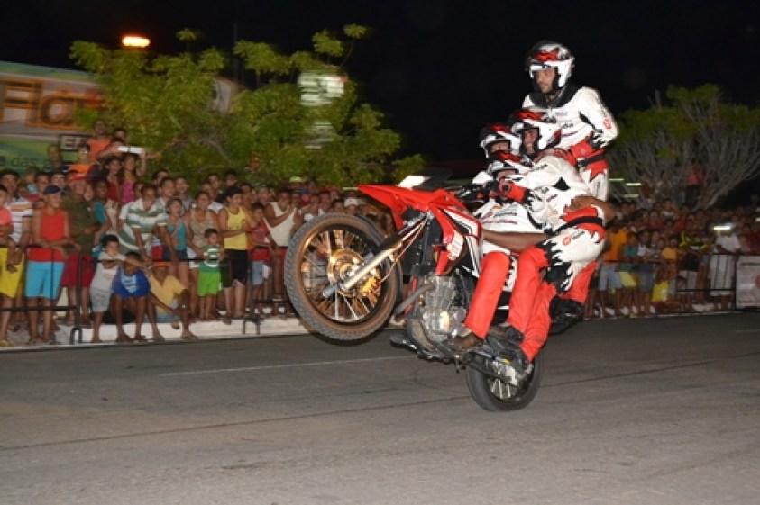 O apoio da atual gestão garantiu a vinda do maior evento de moto acrobacias do Brasil (Foto: Afrânio Mesquita/Zona Fashion)