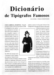 Tpógrafos famosos de Portugal - Costa Carregal Artes gráficas