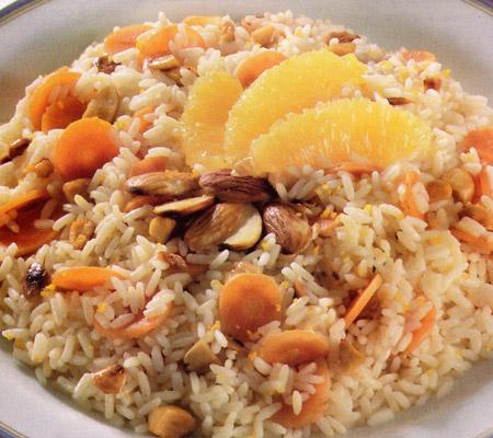 Rizoto cu morcovi, portocale si migdale