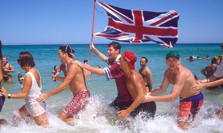 Brits On Beach