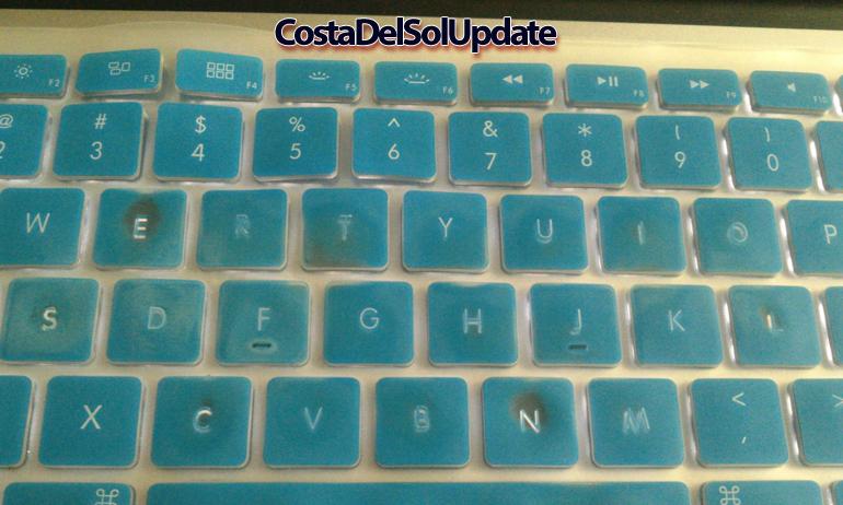 worn out keyboard