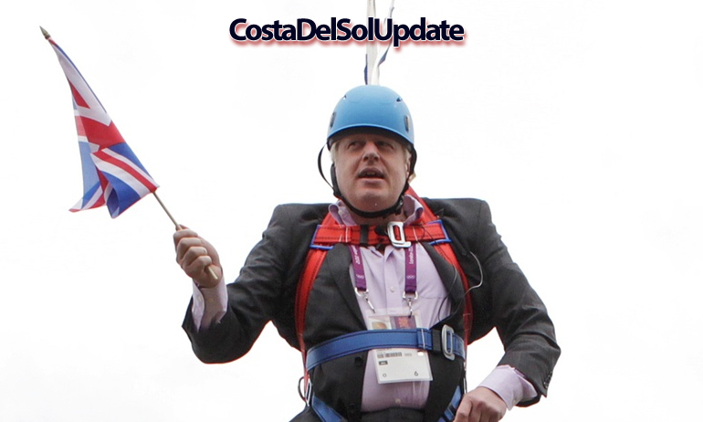Boris Johnson Zipwire
