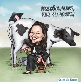 caricatura formatura laticínios formanda