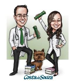 caricatura formatura medicina psicologia