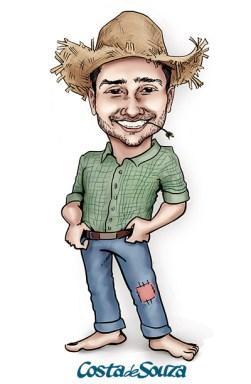 caricatura junina caipira