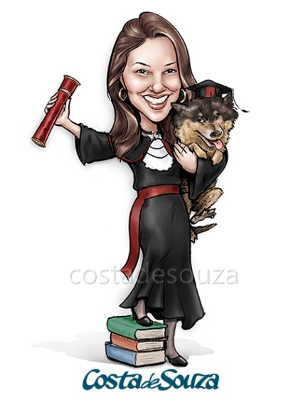 caricatura-formatura-direito-cachorro