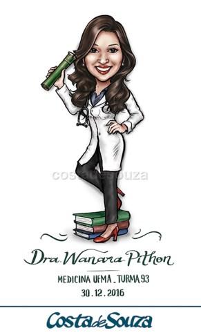 caricatura-formatura-medicina-formanda