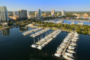A view of St. Petersburg, Florida, where thousands of residents have been moving in recent years, particularly in the pandemic. (Getty Images)