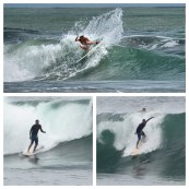Surfers in Limon