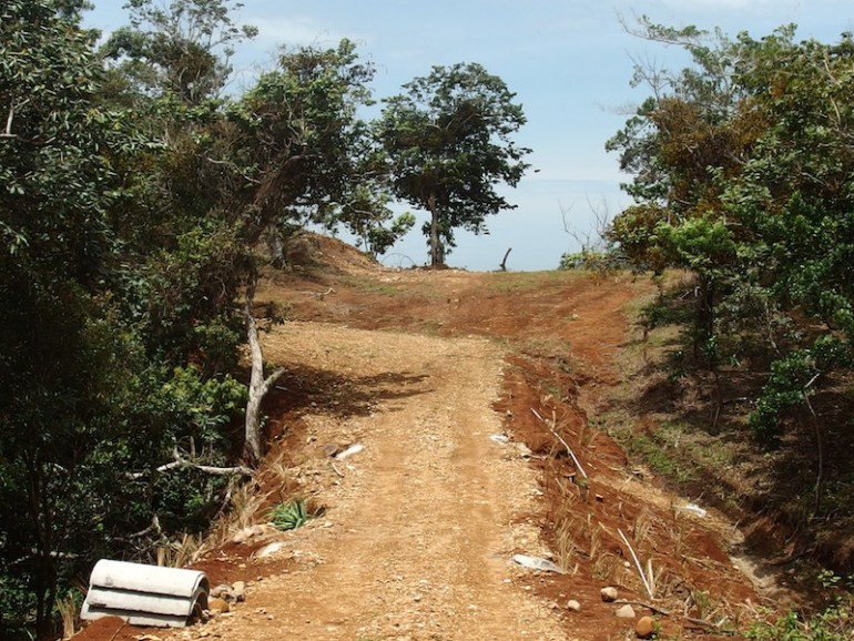 Rd to lot 2 -buildable oceanview homesites for sale in san ramon costa rica