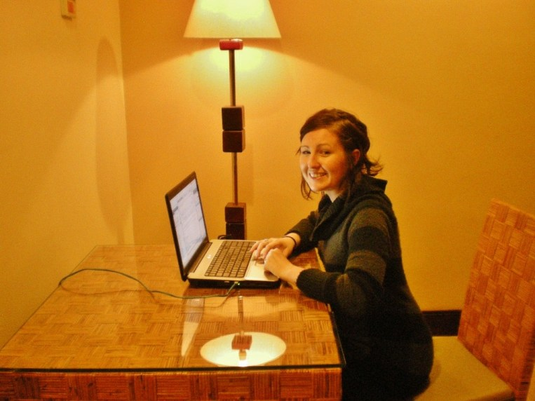 Nikki - this hotel in San Jose offered an in-suite office space (albeit terrible lighting!)