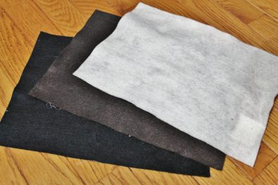 Felt sheets (in black, brown, and beige)