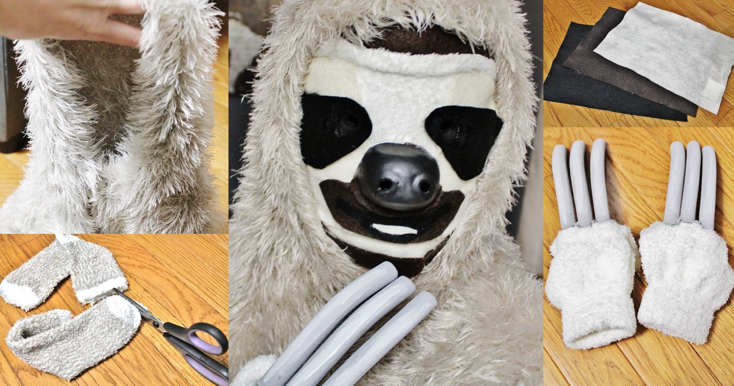 DIY Costa Rica Three-Toed Sloth Costume