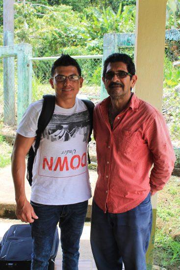 Ricky; with Don Gerardo, who helped organize our visit (Escuela Los Angeles Bajos El Tigre