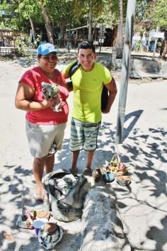 Ricky; buying souvenirs at Samara beach