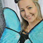 DIY Costa Rica morpho butterfly costume