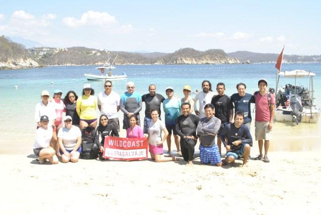 Participantes del 2do taller de monitoreo y manejo de datos de arrecifes de coral del Pacífico Mexicano
