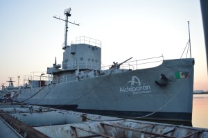 """El buque oceanográfico Aldebarán originalmente se llamó Dragaminas """"DM-20"""" y fue capitaneado por el veracruzano Rafael Piana Lara."""