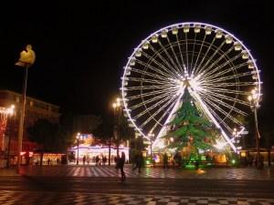 Noria y Arbol de Navidad Mercado de Niza
