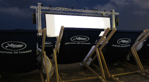 Cine en la playa Cannes 2