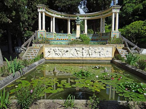 Jardin Menton Fontana Rosa
