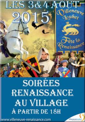 Fiestas Renacimiento VilleneuveLoubet 2015