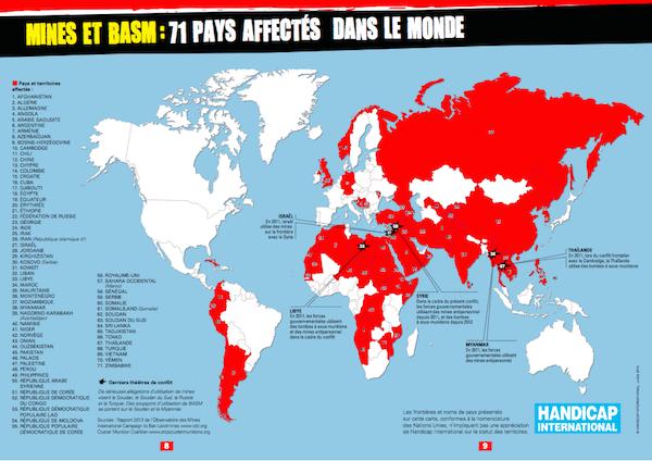 Mapa paises contaminados