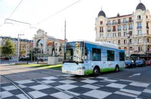 Autobuses electricos prueba Niza