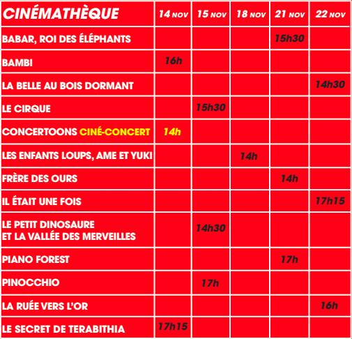 Cine infantil Cinemateca Niza