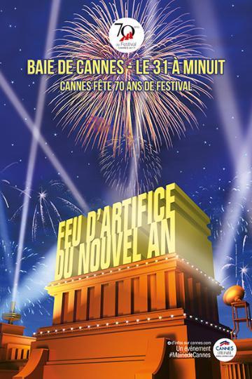 Fuegos artificiales de Año Nuevo en Cannes