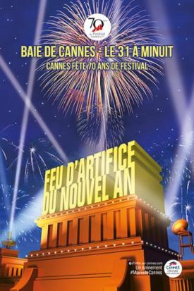 Fuegos artificiales de fin de año en Cannes