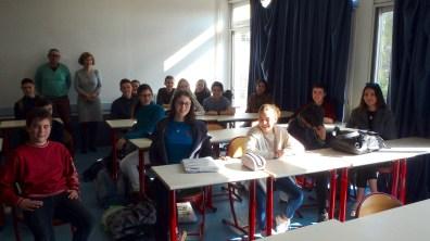 Algunos alumnos de la Sección