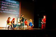 Actuando durante la Fiesta de los Reyes