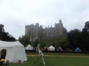 Arundel castle from the camp
