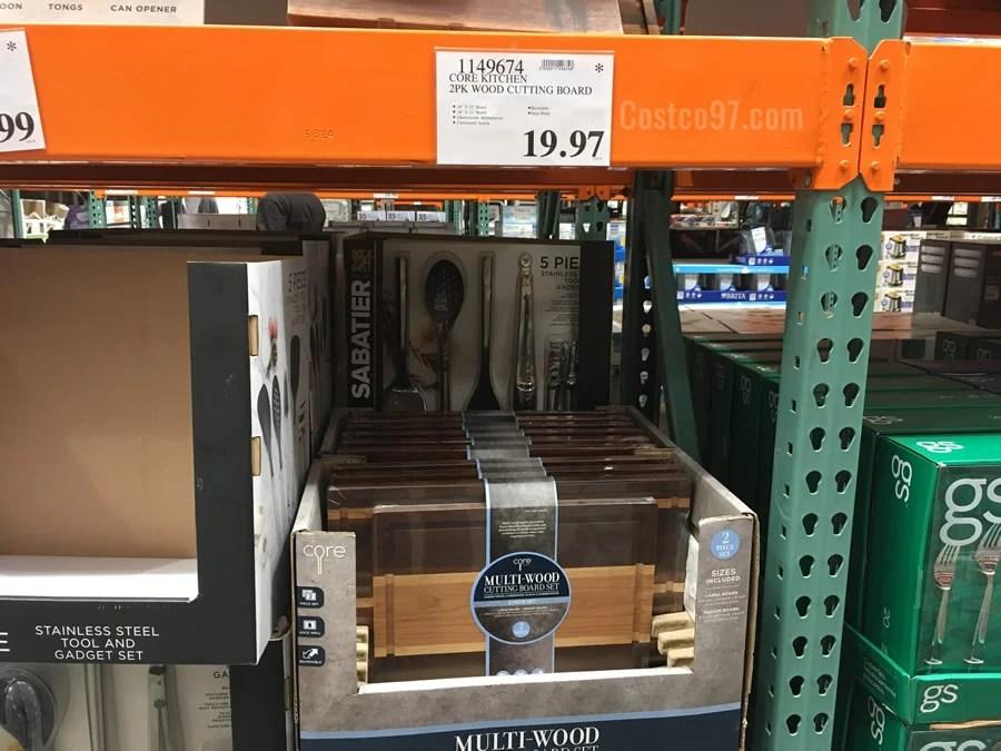 Core Kitchen Wood Cutting Boards - 2 Pack | Costco97.com