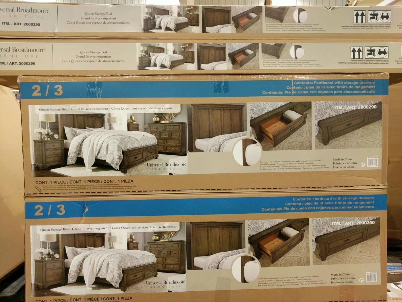 universal broadmoore queen storage bed