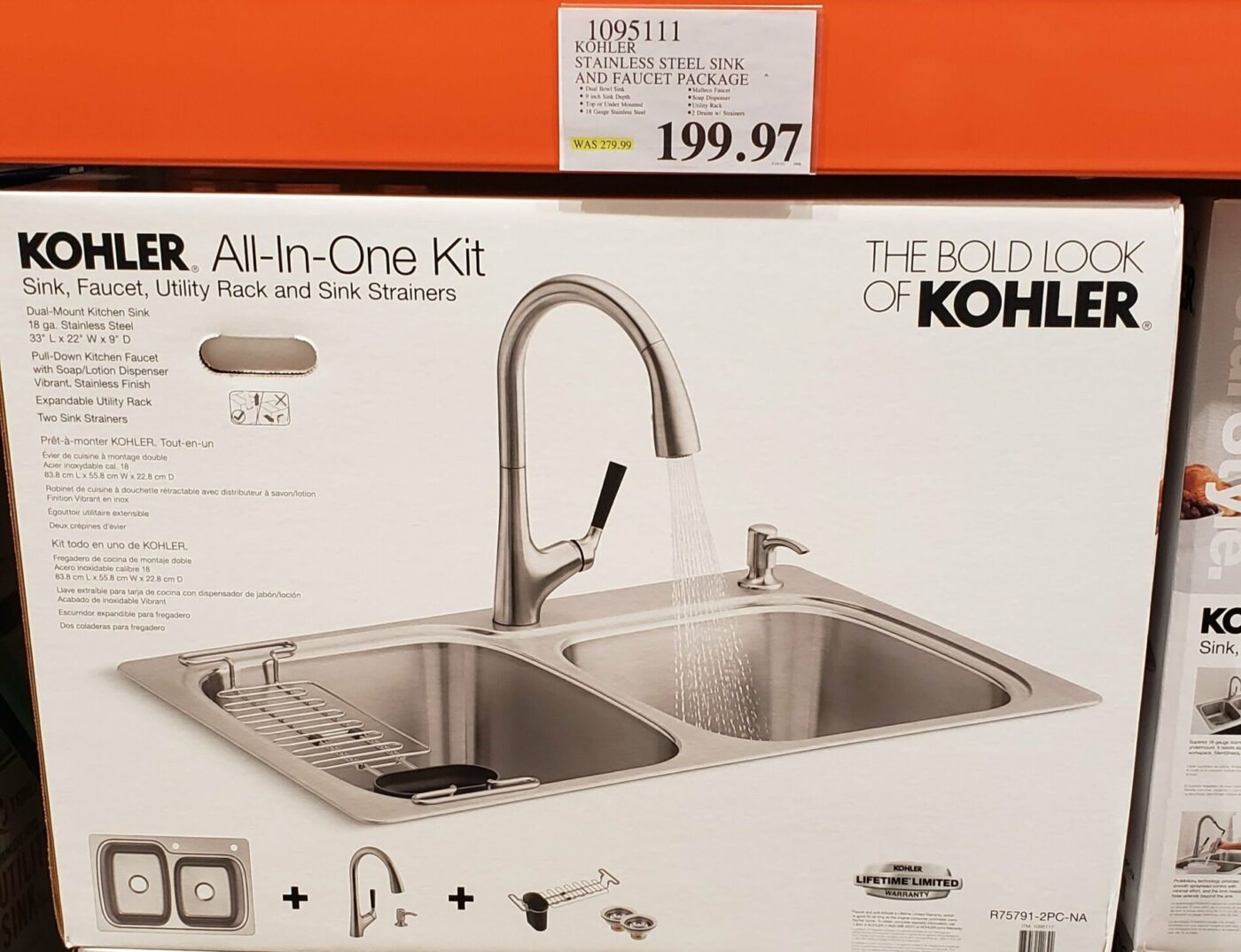 kohler stainless steel sink and faucet