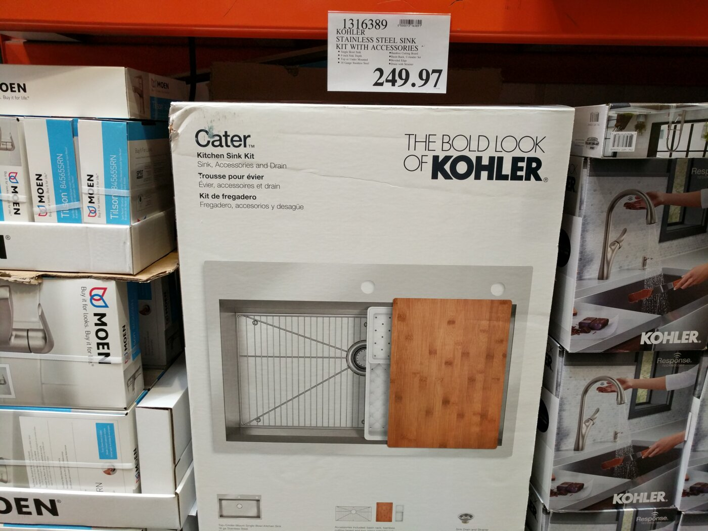 kohler stainless steel sink kit with