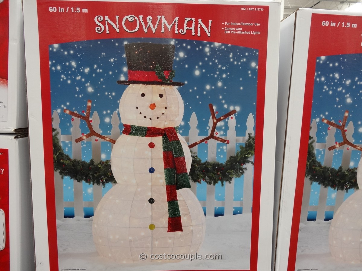 60 Inch Lighted Snowman