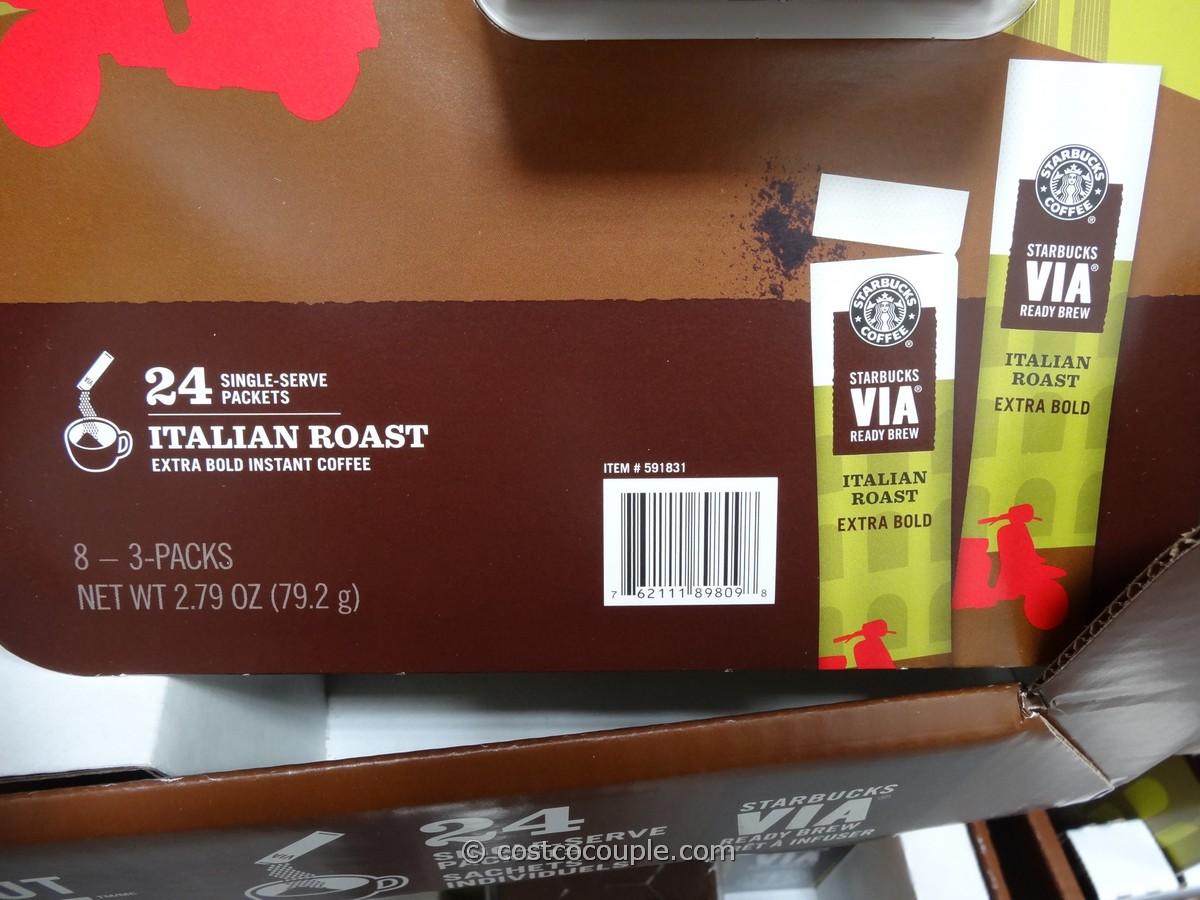 Starbucks VIA Italian Roast Instant Coffee