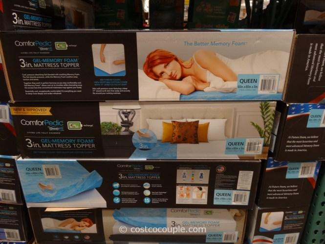 Comforpedic 3 Inch Gel Memory Foam Mattress Topper Costco