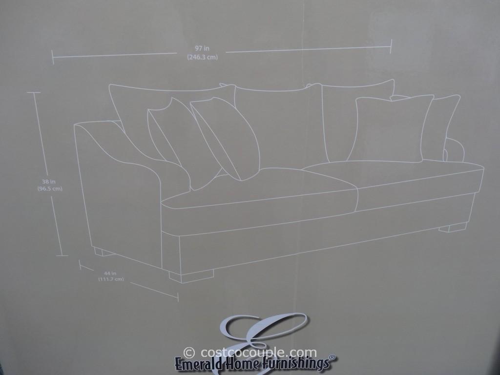 Emerald Gianna Fabric Sofa