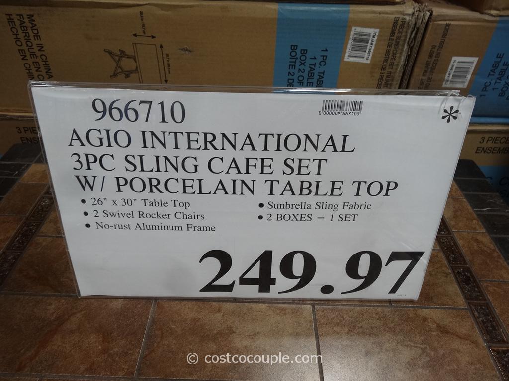 Agio International 3 Piece Sling Cafe Set