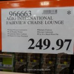 Agio International Fairview Chaise Lounge